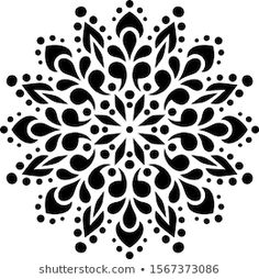 Stencil Font, Stencil Printing, Stencil Patterns, Stencil Designs, Mandala Artwork, Mandala Drawing, Islamic Art Pattern, Mandala Pattern, Lotus Flower Pictures