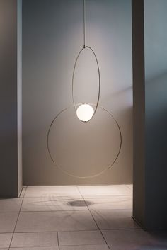 For his first collaboration with the furniture company Herman Miller, the British-based Cypriot designer Michael Anastassiades presented pared-down stools alongside a selection of bespoke lamps. His forms play with balance visually and physically, using glass globes and simple brass lines to create lamps with all the delicate equilibrium of a mobile.