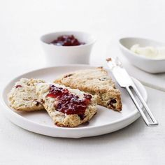 Orange-Cranberry Scones with Turbinado Sugar | These pleasantly dense cranberry-studded scones get a toffeelike flavor from light brown turbinado sugar, which has large, crunchy crystals. Sugar in the Raw is a good brand.