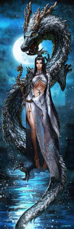 Dragon with Goddess