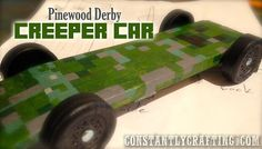 Minecraft Creeper Car – Cub Scout Pinewood Derby Race Car