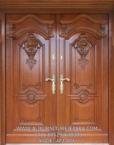 House Main Door Design, Wooden Front Door Design, Home Door Design, Main Entrance Door Design, Double Door Design, Door Gate Design, Door Design Interior, Wooden Front Doors, Interior Exterior