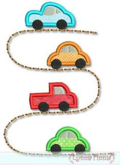 CARS on the ROAD Applique 4x4 5x7 6x10 7x11 svg Machine Embroidery Design INSTANT Download. $2.99, via Etsy.