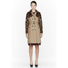 Burberry Prorsum Tan Mink And Leather Trench Coat - Review | Check price - exfits.com