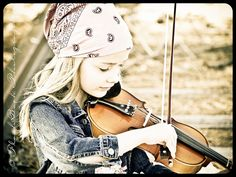 From the very first time that horse haired bow hit her oversized violin...the music she played was Music to my ears. <3