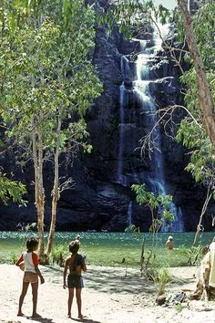 One of the backdrops for the movie Crocodile Dundee,Gunlom Falls at Waterfall Creek, in Kakadu National Park,Northern Territory, Australia. Kakadu National Park, National Parks, Litchfield National Park, Saltwater Crocodile, Australia Travel Guide, Twin Falls, Australia Photos, Travel Around