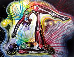 Yoga Art  Anatomy Studio Series: Whale Partner Pose