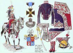 Vincent Corvin Krazinsky, colonnello comandante del 1 rgt. lancieri polacchi della guardia imperiale francese nel 1813