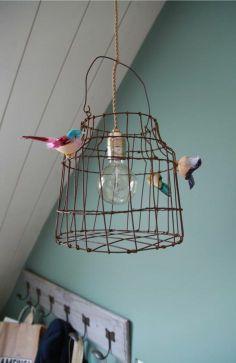 vogelkooitje als lamp