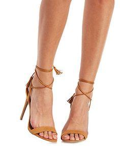 Tasseled Lace-Up Dress Sandals: Charlotte Russe
