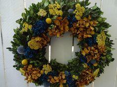 Boxwood Wreath, Hydrangea Wreath, Floral Wreath, Twig Wreath, Sunflower Wreaths, Autumn Wreaths, Indoor Wreath, Thank You Gifts, Wreaths For Front Door