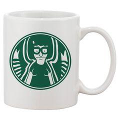 Tina Blecher Coffee White 11 oz. Printing Ceramic Coffee Mug