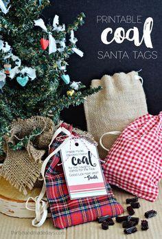 Printable Coal Santa