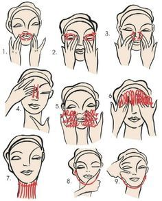 FACIAL MASSAGE - The constant pressure/repeated movements will oxygenate the skin causing cell activity and stimulation of lymph flow. Beauty Care, Beauty Skin, Hair Beauty, Beauty Secrets, Beauty Hacks, Diy Beauté, Face Massage, Tips Belleza, Skin Firming