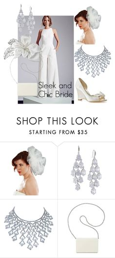 """Sleek and Chic Bride"" by distveils on Polyvore featuring Carolee, Nine West and modern"