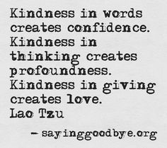 KINDNESS CONFIDENCE LOVE