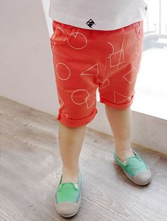 Orange Shorts for boys aged 2-6. Cool kids fashion at Color Me WHIMSY.