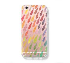 Rain Drops iPhone 6 Case iPhone 6s Plus Case Galaxy S6 Edge Clear Hard Case C130