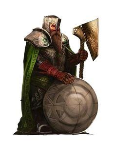 Male Dwarf Axe Shield Fighter Soldier - Pathfinder PFRPG DND D&D d20 fantasy