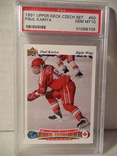 1991 Upper Deck Czech Paul Kariya PSA Gem Mint 10 Hockey Card #50 NHL #WorldJuniors