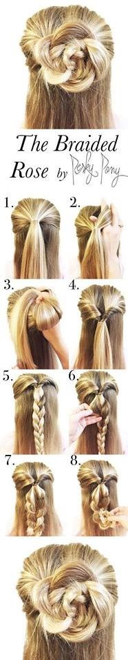 The Braided Rose Half Up Hairstyle Tutorial