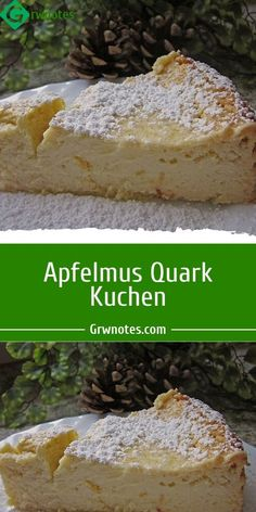 Ingredients: glass of applesauce g butter, soft g sugar eggs, size M kg quark, lean level p. Pudding powder, vanilla fat and semolina for the mold or baking paper g Almon German Cake, Gluten Free Cakes, Cake Ingredients, Almond, Bakery, Food And Drink, Low Carb, Sweets, Vegan