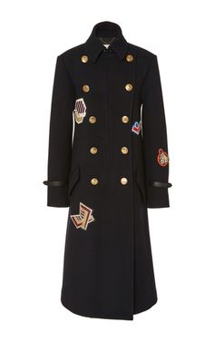 This **Coach 1941** coat features a double breasted front and patchwork detailing.