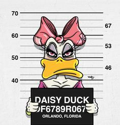 Dark Illustrations Of Mickey Mouse & Friends Posing For Mugshots - DesignTAXI.com
