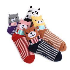 5pairs(5COLOR)=1PACK Animal friends socks Korean WOMAN women s socks  AUFX