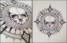 Skull Mandala by KbunnyTheReckless.deviantart.com on @DeviantArt