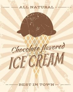 retro ice cream posters