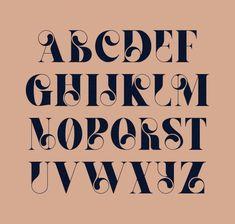 Mint Soda Font on Behance Hand Lettering Alphabet, Typography Letters, Typography Logo, Art Deco Typography, Art Deco Font, Cool Fonts Alphabet, Font Styles Alphabet, Decorative Lettering, Calligraphy Fonts Alphabet
