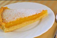Нежный пирог с лимонным кремом из песочного теста - Жемчужинка