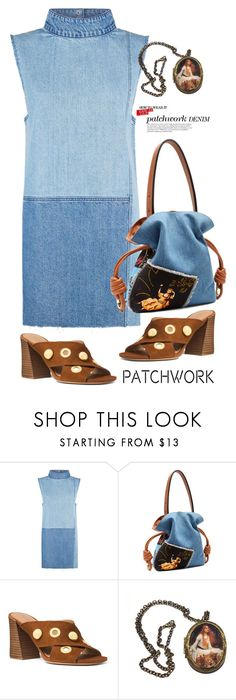"""Patchwork denim"" by lence-59 ❤ liked on Polyvore featuring Ksubi, Loewe, Michael Kors and patchwork"