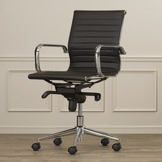 Cruz Mid-Back Leather Conference Chair- OFFICE IN WHITE