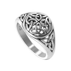 Amazon.com: Sterling Silver 11mm Round Front Celtic Knot Polished Finish 3mm Band Ring Size 9: Jewelry
