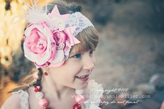 Love Struck Shabby Chic Headband or Clip by baerlyfamous on Etsy