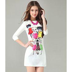 SNY Women's Sweet  Colorful Pattern Sheath Bodycon Dress – USD $ 22.99