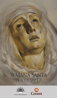 Cartel Semana Santa Jerez 2017 de La Sacristía del Caminante, realizado por la artista plástica Inma Peña #SemanaSanta #Jerez #Retrato #Arte #Pastel