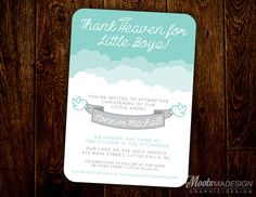 Thank Heaven for Little Girls and Boys Baptism by MootsMadeDesign