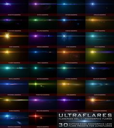 Ultraflares Flarepack Vol. Photoshop Plugins, Anamorphic, Modern Photography, Lens Flare, Archetypes, Software Development, Creative Director, Design, Jungian Archetypes