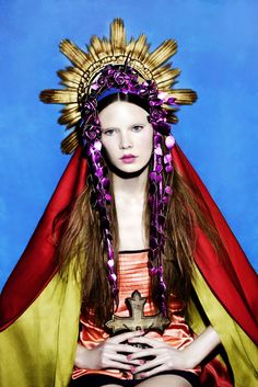 """Portrait of a Lady"" Virgin Mary by Signe Vilstrup in Dansk Magazine #sacredart…"