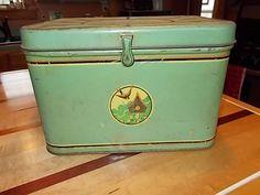 Green Vintage Kitchen Bread Box