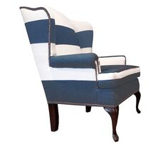 FRANCOISE Chair ... hand made broad striped by RockerRefined | $1850.