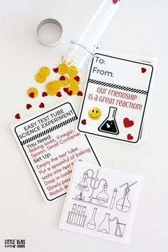 Science themed Valentines Card ideas for kids