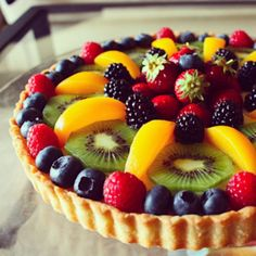 Food Expert Experiment - Recipe of the day - Delicious FRUIT TART - Decoration tips and tricks - Creative food ideas Tart Recipes, Sweet Recipes, Dessert Recipes, Just Desserts, Delicious Desserts, Yummy Food, Healthy Food, Raw Food, Fruit Flan