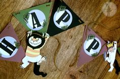 Where the Wild things are Inspired Party  Customized Banner (Printable Edition). $10.00, via Etsy.