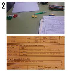 19/01/16 Hoy hicimos unos estudios de probabilidad con los números de un dado y terminamos de comprobar el estudio de las caras de la moneda.