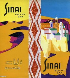 A tourism brochure for Sinai  U.A.R.' from 1958 in Egypt