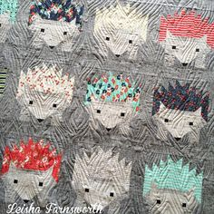 Leisha Farnsworths free motion quilting. So cute!